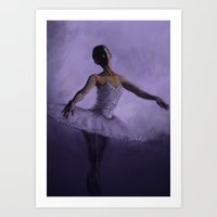 ballet Art Prints featuring Ballet by 3crazycatsss