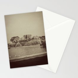 Chicago Buckingham Fountain Sepia Photo Stationery Cards