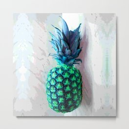 Pineapple Day Metal Print