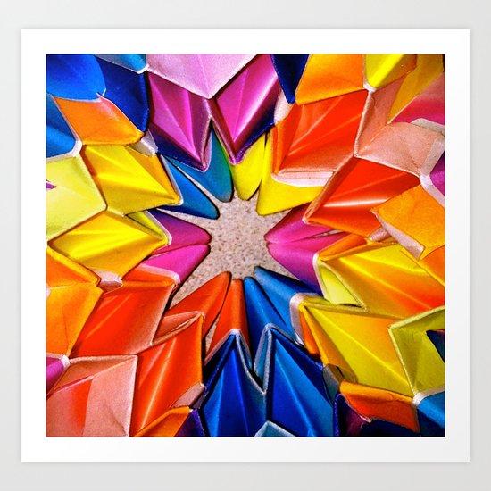 rainbow explosion Art Print