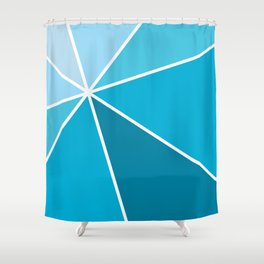Blue Starburst Shower Curtain