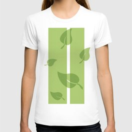 Scattered Green Leaves T-shirt