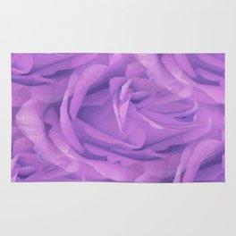 Seamless Purple Rose Vector Rug