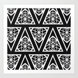Black Chlzd Heart - Design Pattern Art Print
