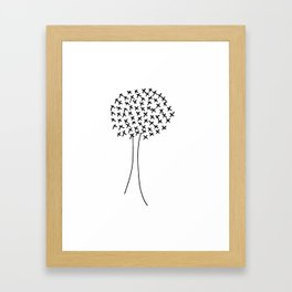 X tree Framed Art Print