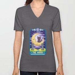 The Moon - Cute Kawaii Anime Tarot Card T-Shirt Unisex V-Neck