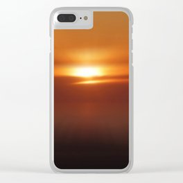 The Golden Hour Clear iPhone Case