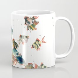Barb Fish, Aquatic Blue Turquoise Underwater Scene Coffee Mug