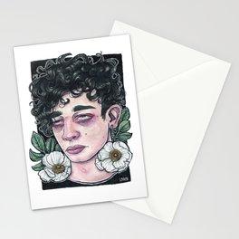 Matty White Poppy Stationery Cards
