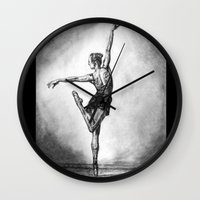 ballerina Wall Clocks featuring Ballerina by Megan