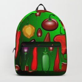 Chili Peppers Hot And Spicy Backpack