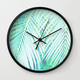 palm fronds Wall Clock