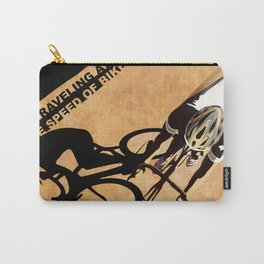 TRAVELING AT THE SPEED OF BIKE Carry-All Pouch