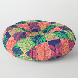 Banana Mandala 2c Floor Pillow