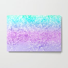 Unicorn Girls Glitter #9 #shiny #decor #art #society6 Metal Print
