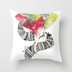Art'lephant. Throw Pillow