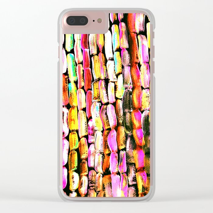 Orange Sugarcane Clear iPhone Case