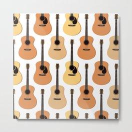 Acoustic Guitars Pattern Metal Print