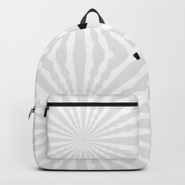 Bright White & Silver Pinwheels with Small Black Crosses Backpack