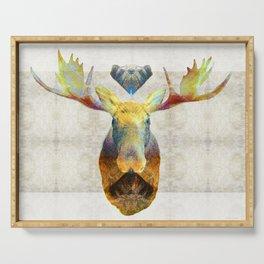 Mystic Moose Art by Sharon Cummings Serving Tray