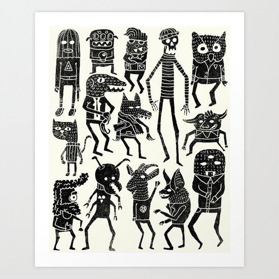 Bump in the Night Art Print