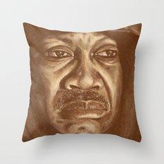 round 2...joe frazier Throw Pillow