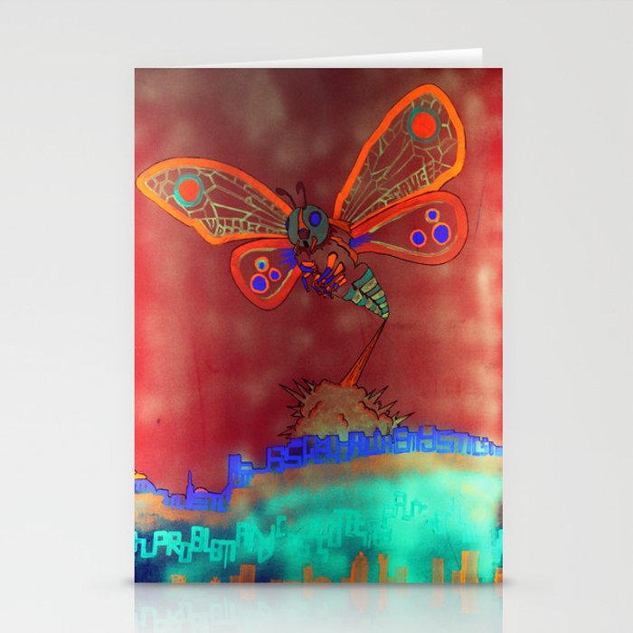 Bad Ash Mothra Funker Full (Wobblesauce) Stationery Cards