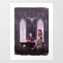 Hades' Office Art Print