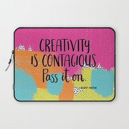 Creativity is Contagious Laptop Sleeve