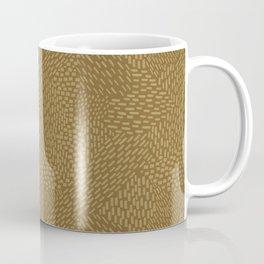Abstract Brush Strokes, Caramel and Brown Coffee Mug