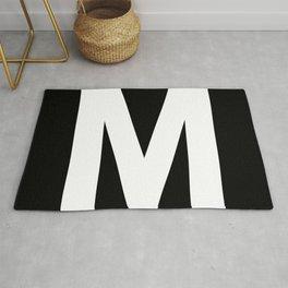 Letter M (White & Black) Rug