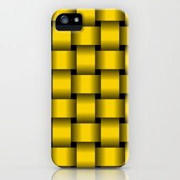 Large Gold Yellow Weave iPhone Case
