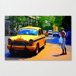 Kolkata Taxi - India Canvas Print