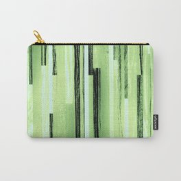 Green Black Purple Stripes Carry-All Pouch