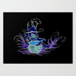 snail cartoon Art Print