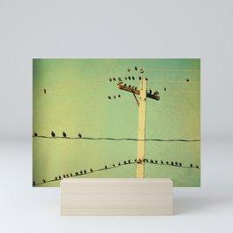 Retro Tweeters Mini Art Print