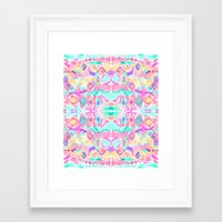 ikat Framed Art Prints featuring ikat by Erin A Shank