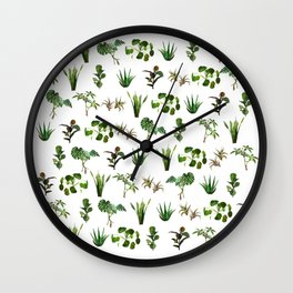 house plant medley Wall Clock