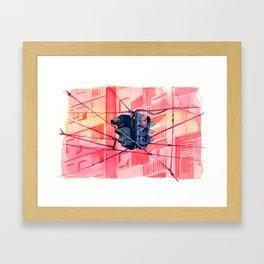 Traffic lights watercolor Framed Art Print