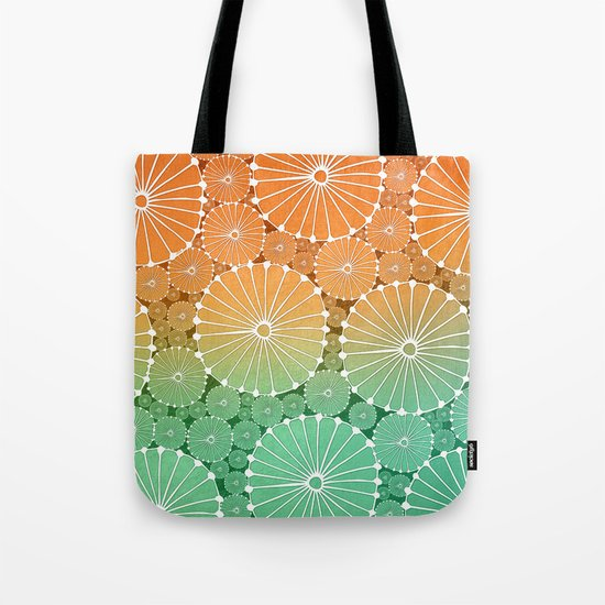 Abstract Floral Circles 7 Tote Bag