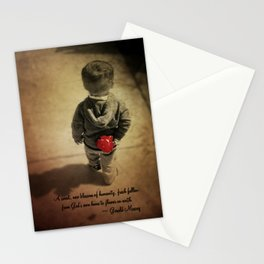 Blossom of humanity Stationery Cards