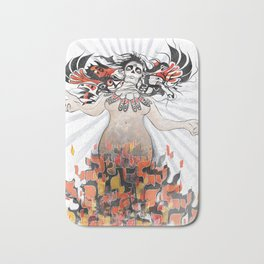 Gaia in Turmoil Bath Mat