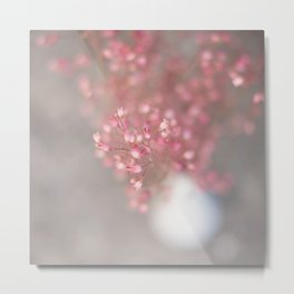 pink coral bells Metal Print