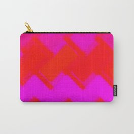 Red and Hot Pink Abstract Geometric Carry-All Pouch