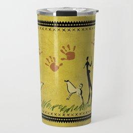 Cavemen yellow Travel Mug