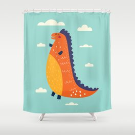 Funny Dinosaur Shower Curtain