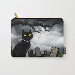 Hallows Halloween Horror Folk Art Carry-All Pouch