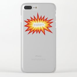 Anxiety Attack Clear iPhone Case