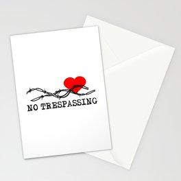 No Trespassing Black On White Horizontal Stationery Cards