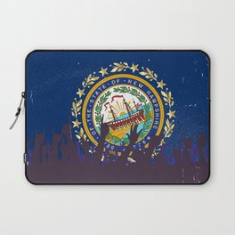 New Hampshire State Flag with Audience Laptop Sleeve